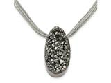 Chisel Stainless Steel Druzy Agate Polyester Cord Necklace style: SRN2172175