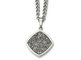 Chisel Stainless Steel Polished With Silver Druzy Necklace style: SRN21742725
