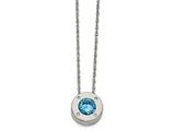Chisel Stainless Steel Polished Cz March Birthstone Necklace style: SRN218420