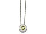 Chisel Stainless Steel Polished Cz August Birthstone Necklace style: SRN218720