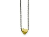 Chisel Stainless Steel Yellow Ip-plated Polished Heart Necklace style: SRN21951625