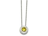 Chisel Stainless Steel Polished Cz November Birthstone Necklace style: SRN219820