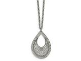 Chisel Stainless Steel Polished  Textured Cut-out Design Necklace style: SRN22051775