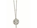 Chisel Stainless Steel Polished Fwc Pearl and Cz and Glass W/2in Ext Necklace style: SRN224130