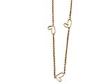 Chisel Stainless Steel Polished Rose Ip-plated Hollow Heart Charm Necklace style: SRN224638
