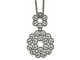 Chisel Stainless Steel Polished And Textured Chain Slide Necklace style: SRN225418