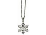 Chisel Stainless Steel Polished Crystal Necklace style: SRN225718