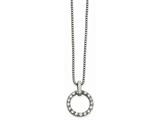 Chisel Stainless Steel Polished Circle Cz Necklace style: SRN225818