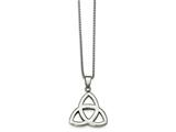 Chisel Stainless Steel Polished Trinity Knot Necklace style: SRN226218