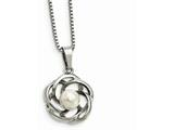 Chisel Stainless Steel Polished Freshwater Cultured Pearl Necklace style: SRN226318