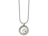 Chisel Stainless Steel W/ Cz Floating Glass Circles Necklace style: SRN227218
