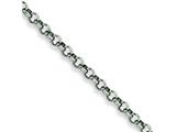 Chisel Stainless Steel 6mm Rolo Chain - 18 inches style: SRN231
