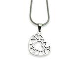 Chisel Stainless Steel Heart Pendant Necklace - 18 inches style: SRN246