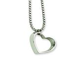 Chisel Stainless Steel Heart Pendant Necklace - 18 inches
