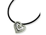Chisel Stainless Steel CZ Pendant Necklace - 18 inches