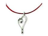 Chisel Stainless Steel Pendant on Red Wire Necklace - 16 inches
