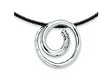Chisel Stainless Steel CZ Pendant Necklace - 16 inches