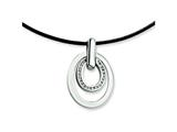 Chisel Stainless Steel CZ Pendant Necklace - 18 inches style: SRN263