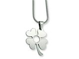 Chisel Stainless Steel Four Leaf Clover Pendant Necklace - 18 inches
