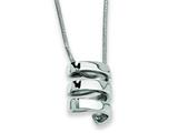 Chisel Stainless Steel Pendant Necklace - 18 inches style: SRN270