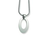 Chisel Stainless Steel Oval Pendant Necklace - 18 inches
