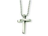Chisel Stainless Steel Cross Pendant Necklace - 18 inches style: SRN292