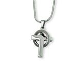 Chisel Stainless Steel Cross In Circle Pendant Necklace - 18 inches style: SRN297