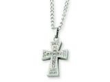 Chisel Stainless Steel CZ Cross Pendant Necklace - 20 inches