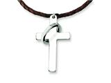 Chisel Stainless Steel Cross Pendant Necklace - 18 inches style: SRN306