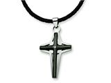 Chisel Stainless Steel Cross Pendant Necklace - 18 inches style: SRN317
