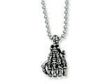Chisel Stainless Steel Skull Hand Pendant Necklace - 22 inches