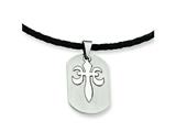 Chisel Stainless Steel Fleur De Lis Pendant Necklace - 18 inches style: SRN328
