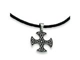Chisel Stainless Steel Enameled Celtic Cross Pendant Necklace - 18 inches