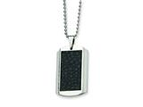 Chisel Stainless Steel and Stingray Patterned Dog Tag Necklace - 24 inches