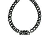 Chisel Stainless Steel Antiqued Gothic Necklace - 24 inches