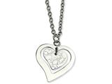 Chisel Stainless Steel Heart With Extender Necklace style: SRN39618