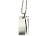 Chisel Stainless Steel Brushed Pendant 22in Necklace style: SRN43522