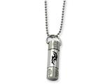 Chisel Stainless Steel Rubber Swirl Design Pendant 22in Necklace style: SRN43722