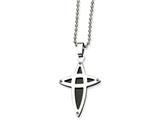 Chisel Stainless Steel Black Ip-plated Cross Necklace style: SRN47722