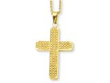 Chisel Stainless Steel Yellow Ip-plated With Czs Cross Pendant Necklace style: SRN513GP22