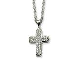 Chisel Stainless Steel Crystal Cross Pendant Necklace style: SRN51522