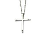 Chisel Stainless Steel Cz Cross Pendant Necklace style: SRN51622