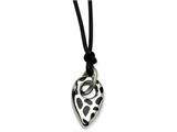 Chisel Stainless Steel Black Resin Pendant With 2 Inch Ext Necklace style: SRN57418