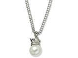 Chisel Stainless Steel Simulated Pearl Necklace style: SRN57822
