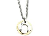 Chisel Stainless Steel Yellow Ip-plated Circle Double Necklace style: SRN58922