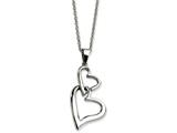 Chisel Stainless Steel Heart Pendant Necklace style: SRN59822