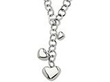 Chisel Stainless Steel Polished Hearts 28in Y Necklace style: SRN60428