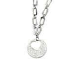 Chisel Stainless Steel Heart Cutout Pendant With 2 Inch Ext Necklace style: SRN60722