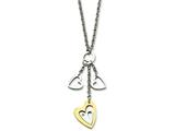 Chisel Stainless Steel Yellow Ip-plated Heart With  Hearts With Cz Necklace style: SRN60822