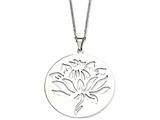 Chisel Stainless Steel Flower Cutout Pendant Necklace style: SRN63822